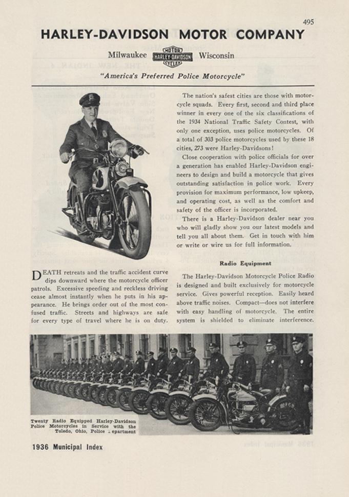 Retropaper harley davidson motor company police motorcycles for Harley davidson motor co