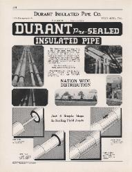 1944 Durant Insulated Pipe Company ASBESTOS